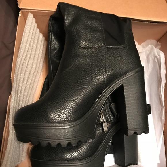Torrid Womens Wide Calf Platform Boots